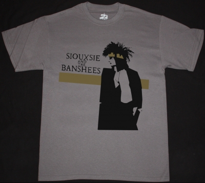 SIOUXSIE AND THE BANSHEES TINDERBOX TOUR NEW GREY CHRACOAL T-SHIRT