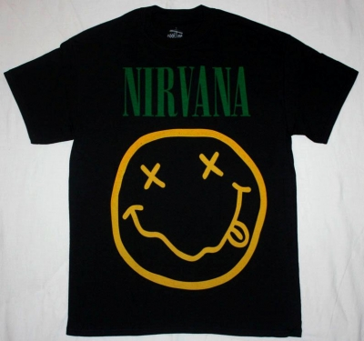 NIRVANA SMILE NEW BLACK T-SHIRT