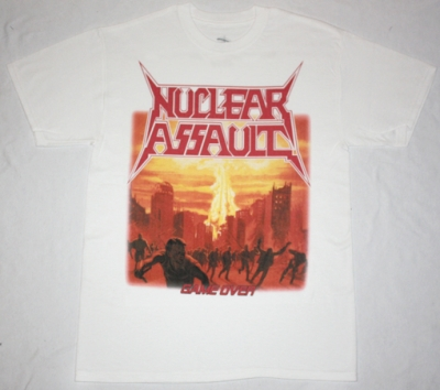 NUCLEAR ASSAULT GAME OVER'86  NEW WHITE T-SHIRT