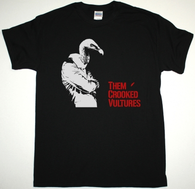 THEM CROOKED VULTURES BIRDMAN NEW BLACK T-SHIRT