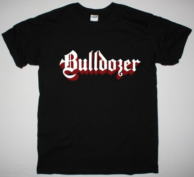 BULLDOZER LOGO NEW BLACK T SHIRT