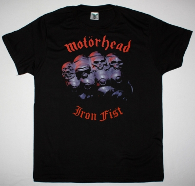 MOTORHEAD IRON FIST 1982 NEW BLACK T-SHIRT