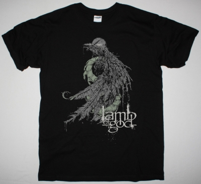 LAMB OF GOD BIRD NEW BLACK T-SHIRT