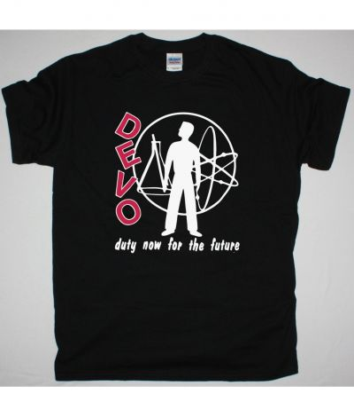 DEVO DUTY NOW FOR THE FUTURE NEW BLACK T SHIRT
