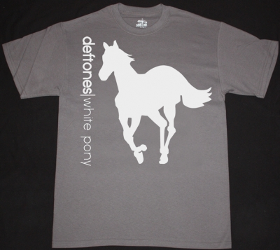 DEFTONES WHITE PONY '00 NEW GREY CHARCOAL T-SHIRT