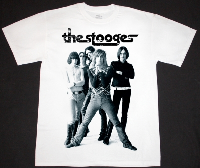 THE STOOGES IGGY POP  NEW WHITE T-SHIRT