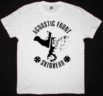 AGNOSTIC FRONT SKINHEAD NEW WHITE T SHIRT