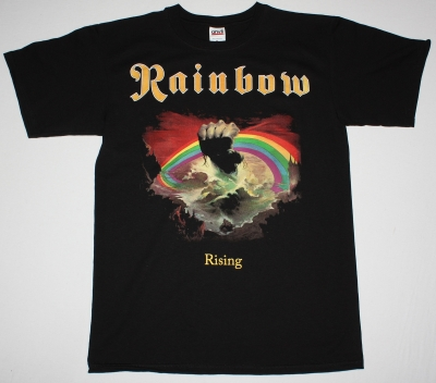 RAINBOW RISING'76 NEW BLACK T-SHIRT