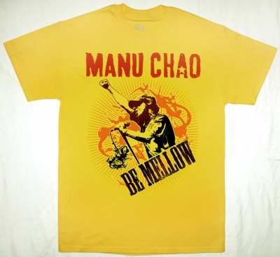 MANU CHAO BE MELLOW  NEW YELLOW T-SHIRT