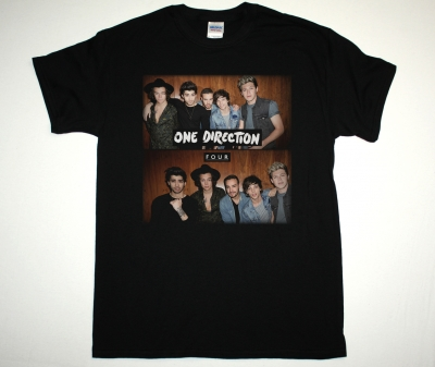 ONE DIRECTION FOUR 2014 NEW BLACK T-SHIRT