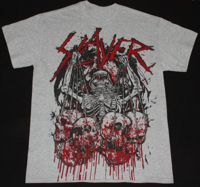 SLAYER SKULL TROPHIES NEW SPORT GREY T-SHIRT