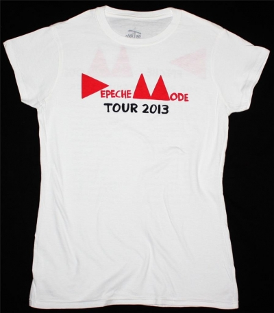 DEPECHE MODE LOGO DELTA MACHINE TOUR 2013 NEW WHITE LADY T-SHIRT