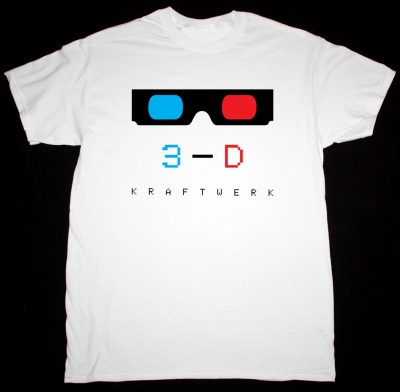 KRAFTWERK 3-D NEW WHITE T-SHIRT