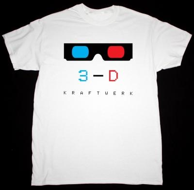 KRAFTWERK 3-D NEW WHITE T-SHIRT
