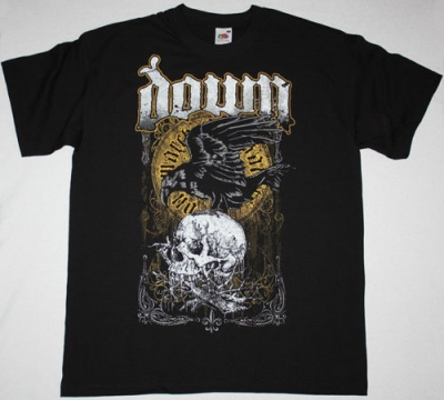 DOWN SWAMP SKULL NEW BLACK T-SHIRT