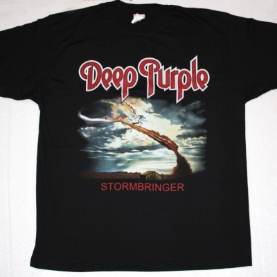 DEEP PURPLE STORMBRINGER 1974 NEW BLACK T-SHIRT