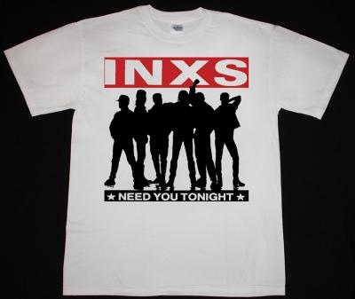 INXS NEED YOU TONIGHT NEW WHITE T-SHIRT