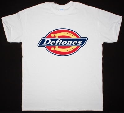 DEFTONES DICKIES LOGOREMIX NEW WHITE T-SHIRT