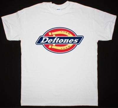DEFTONES DICKIES LOGOREMIX NEW WHITE T-SHIRT