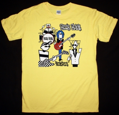 CHEAP TRICK ROCK FORD NEW YELLOW T-SHIRT