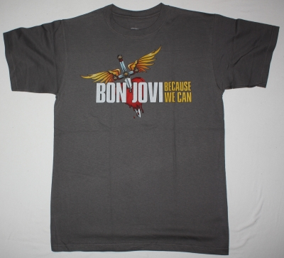 BON JOVI BECAUSE WE CAN THE TOUR EUROPE 2013 NEW GREY T SHIRT