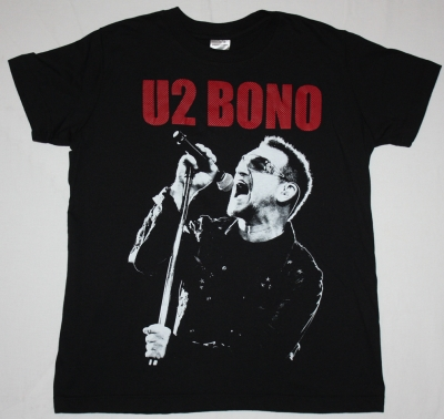 U2 BONO NEW BLACK T-SHIRT