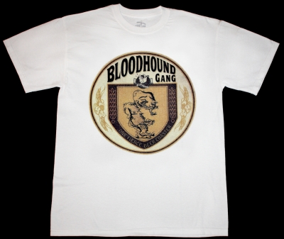 BLOODHOUND GANG ONE FIERCE BEER COASTER '96  NEW WHITE T-SHIRT