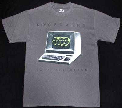 KRAFTWERK COMPUTER WORLD '81 NEW GREY T-SHIRT