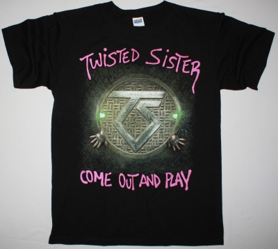 TWISTED SISTER COME OUT AND PLAY'85 NEW BLACK T-SHIRT