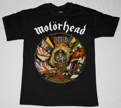 MOTORHEAD 1916 NEW BLACK T-SHIRT