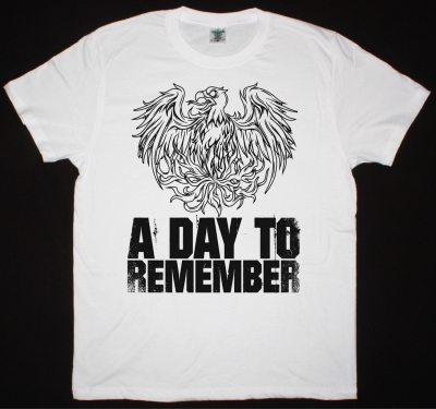 A DAY TO REMEMBER EAGLE NEW WHITE T-SHIRT