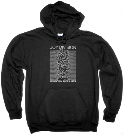 JOY DIVISION UNKNOWN PLEASURES 79 NEW BLACK HOODIE