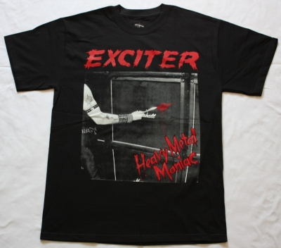 EXCITER HEAVY METAL MANIAC'83 NEW BLACK T-SHIRT