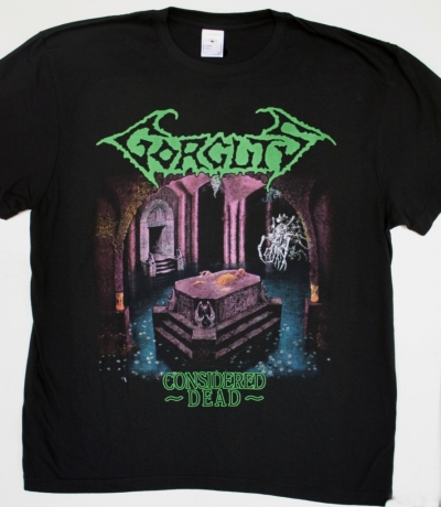 GORGUTS CONSIDERED DEAD NEW BLACK T-SHIRT