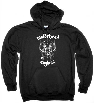 MOTORHEAD ENGLAND NEW BLACK HOODIE