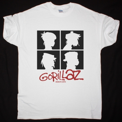GORILLAZ DEMON DAYS NEW WHITE T SHIRT