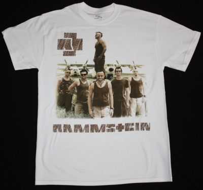 RAMMSTEIN BAND REISE REISE NEW WHITE T-SHIRT