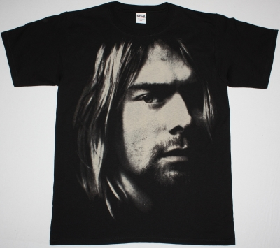 KURT COBAIN PHOTO JUMBO PRINT NEW BLACK T-SHIRT