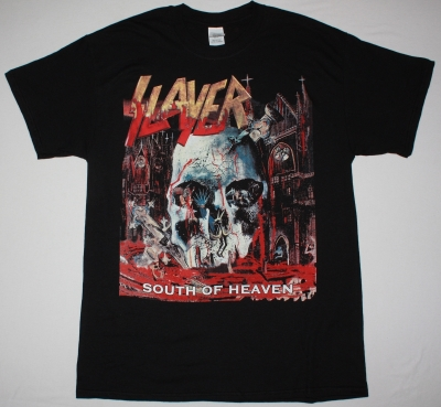 SLAYER SOUTH OF HEAVEN  NEW BLACK T SHIRT