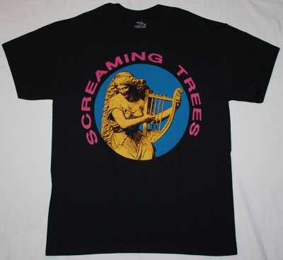 SCREAMING TREES NEW BLACK T-SHIRT