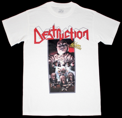 DESTRUCTION LIVE WITHOUT SENSE'89 NEW WHITE T-SHIRT