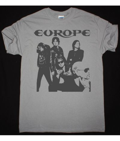 EUROPE BAND NEW LIGHT GREY T SHIRT