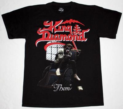 KING DIAMOND THEM'88 NEW BLACK T-SHIRT