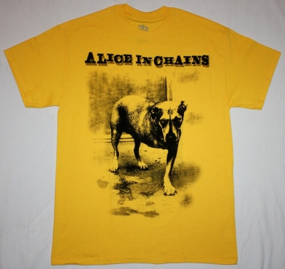ALICE IN CHAINS DOG NEW YELLOW T-SHIRT