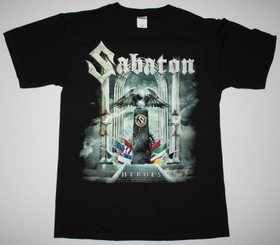SABATON HEROES 2014 TO THE HELL AND BACK NEW BLACK T-SHIRT
