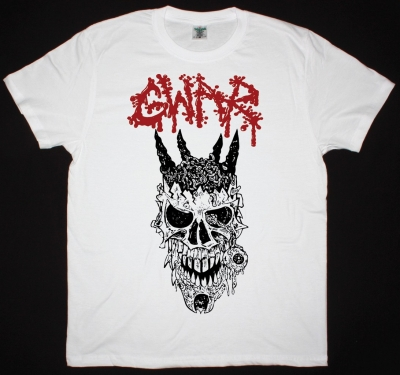 GWAR ODERUS SKULL NEW WHITE T SHIRT