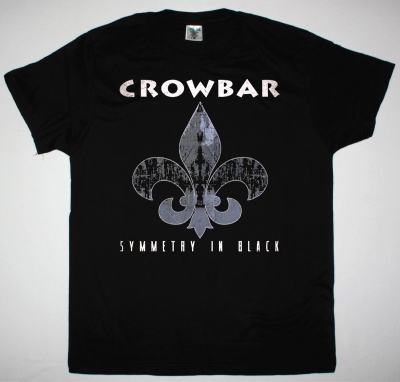 CROWBAR SYMMETRY IN BLACK NEW BLACK T-SHIRT