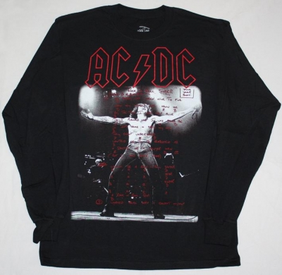 AC DC BON SCOTT IF YOU WANT BLOOD AC/DC LONG SLEEVE T-SHIRT