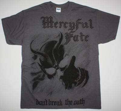 MERCYFUL FATE DON'T BREAK THE OATH'84  JUMBO PRINT NEW GREY T-SHIRT