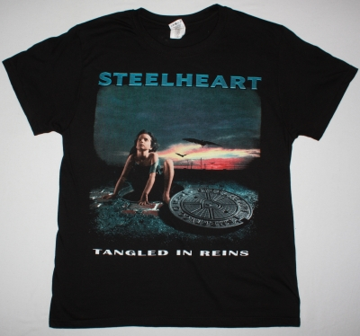 STEELHEART TANGLED IN REINS NEW BLACK T-SHIRT